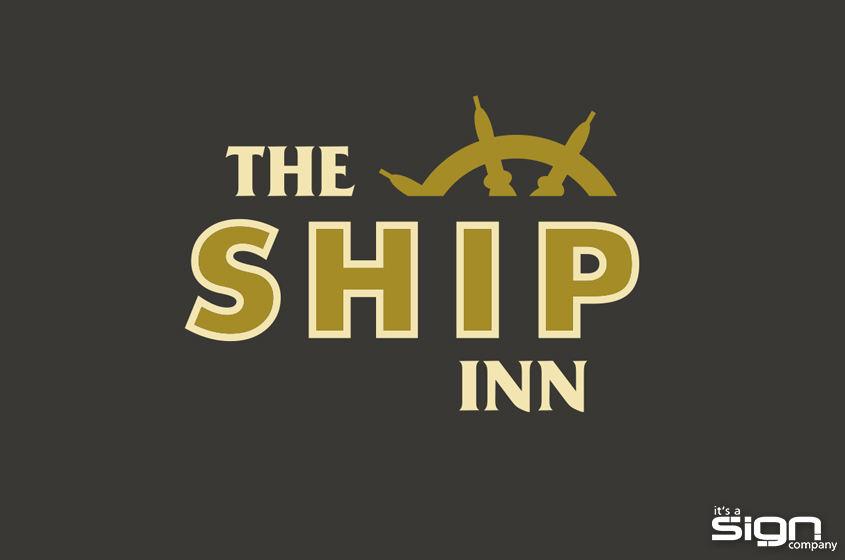 The Ship Inn Logo It S A Sign Company