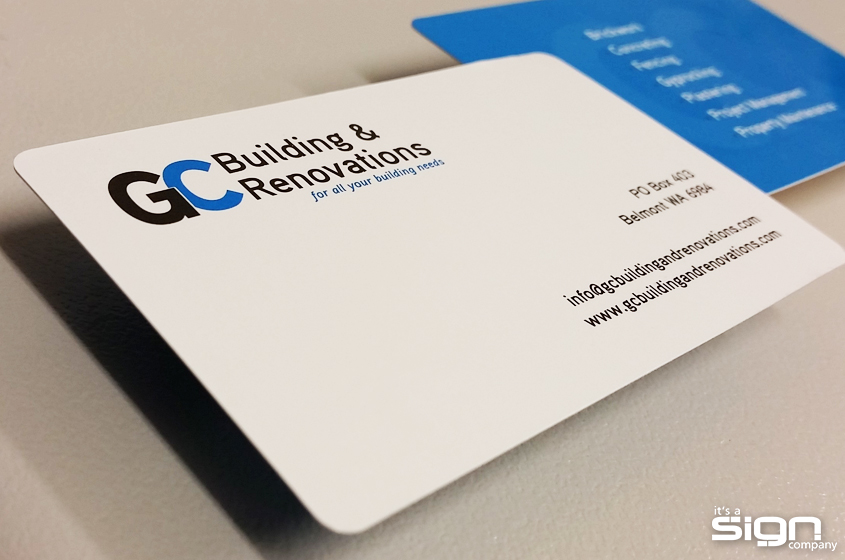 GC Building & Renovations – Business Cards